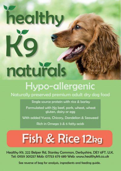 HK9 Naturals Fish & Rice 15kg