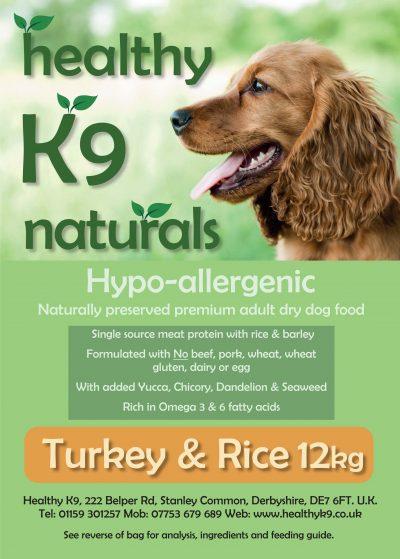 HK9 Naturals Turkey & Rice 12kg